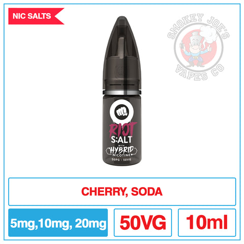 Riot Squad Salts - Cherry Fizzle | Smokey Joes Vapes Co