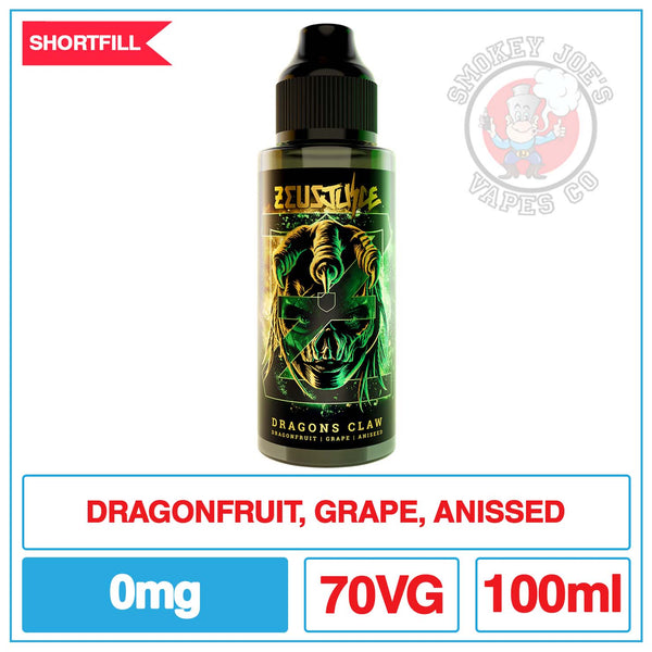 Zeus Juice - Dragons Claw - 100ml | Smokey Joes Vapes Co