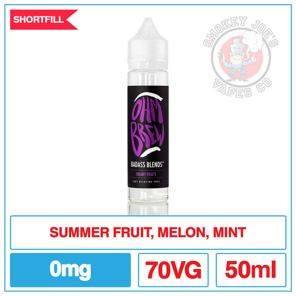 Ohm Brew - Freaky Fruits - 50ml Front | Smokey Joes Vapes Co.