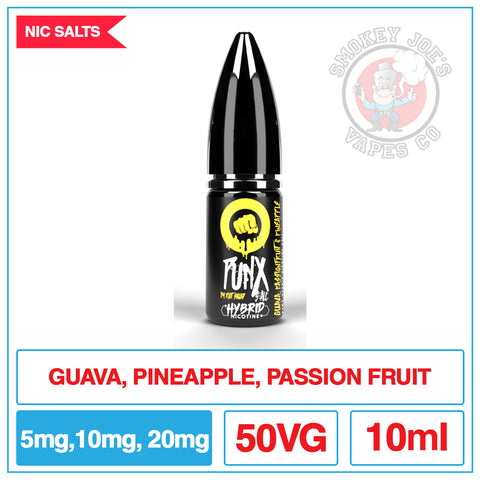 Punx Salt - Guava Passion Fruit And Pineapple | Smokey Joes Vapes Co