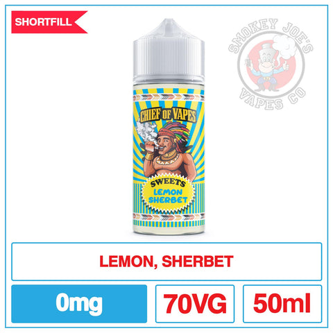 Chief Of Vapes - Lemon Sherbet | Smokey Joes Vapes Co