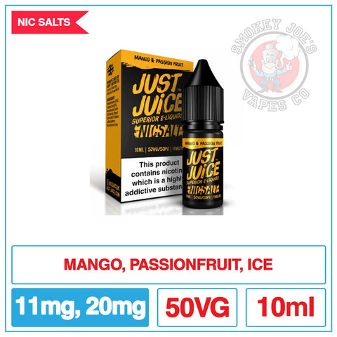 Just Juice Salt - Mango Passion| Smokey Joes Vapes Co