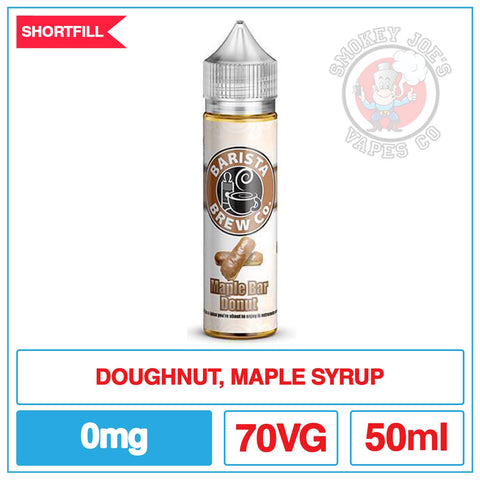 Barista Brew - Maple Bar Donut - 0mg | Smokey Joes Vapes Co