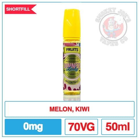Dinner Lady - Melon Twist - 50ml - Front Of Bottle | Smokey Joes Vapes Co
