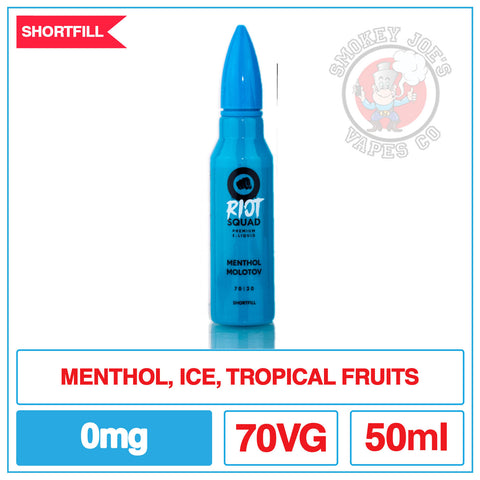 Riot Squad - Menthol Molotov - 50ml | Smokey Joes Vapes Co