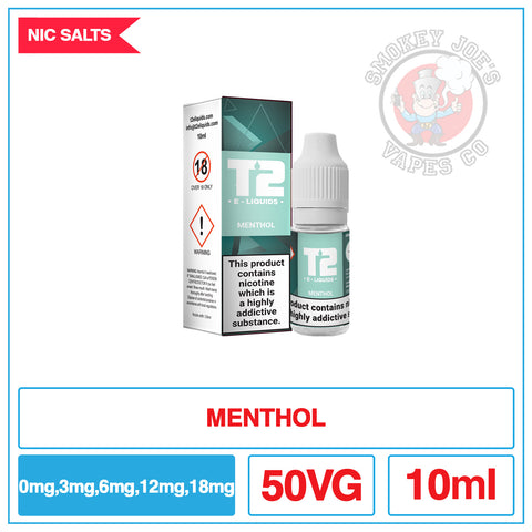 T2 - Nic Salt - Menthol | Smokey Joes Vapes Co