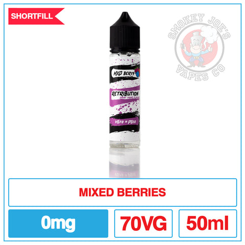 Retribution - Mixed Berry - 50ml | Smokey Joes Vapes Co