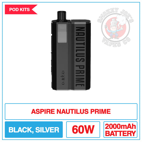 Aspire - Nautilus Prime Pod Kit | Smokey Joes Vapes Co