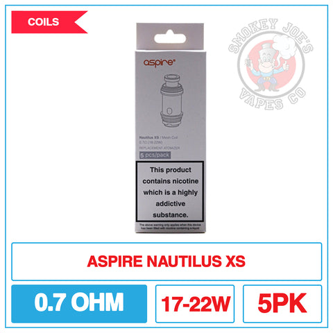 Aspire Nautilus XS Coils - 0.7ohm Mesh | Smokey Joes Vapes Co