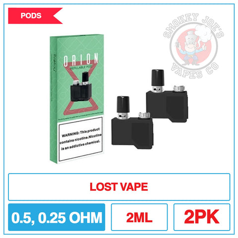 Lost Vape Orion DNA - Replacement Pods | Smokey Joes Vapes Co