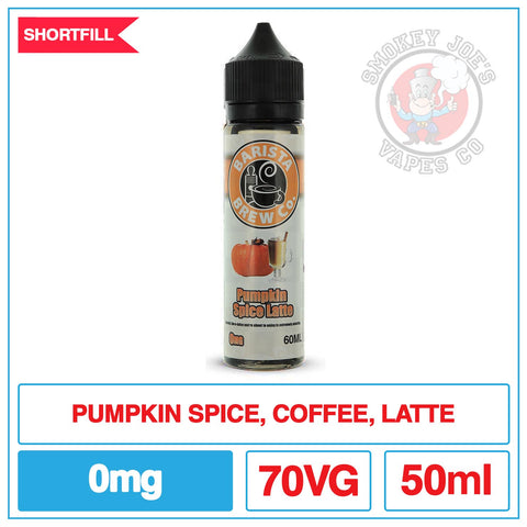 Barista Brew -Spiced Pumpkin Latte - 0mg | Smokey Joes Vapes Co