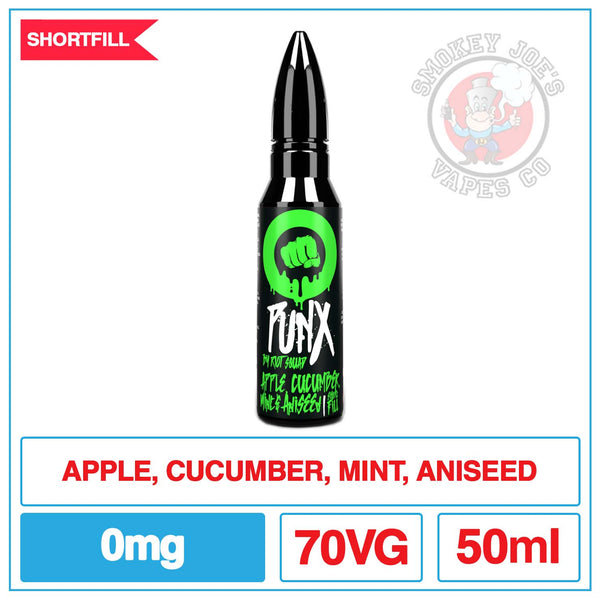 Punx - Apple Cucumber Mint And Aniseed- 50ml | Smokey Joes Vapes Co