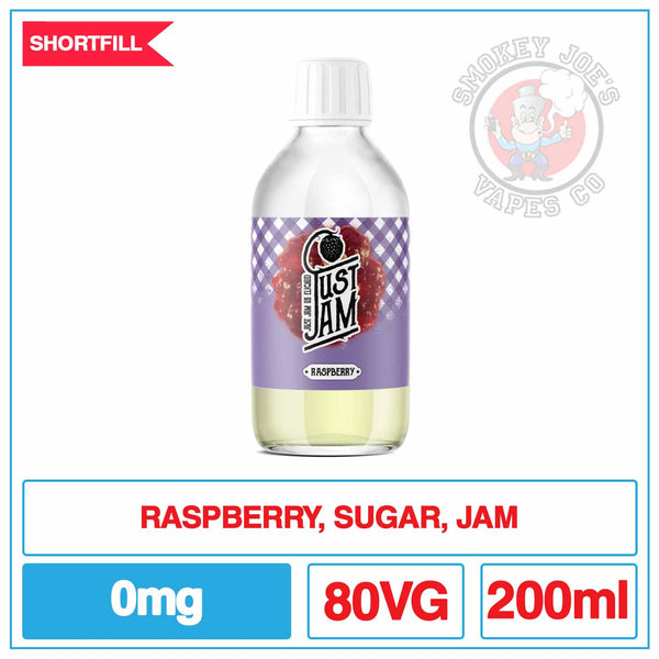 Just Jam Raspberry 200ml | Smokey Joes Vapes Co