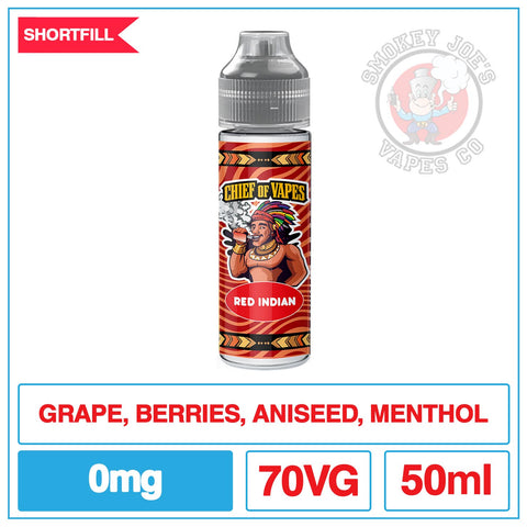 Chief Of Vapes - Red Indian - 50ml | Smokey Joes Vapes Co