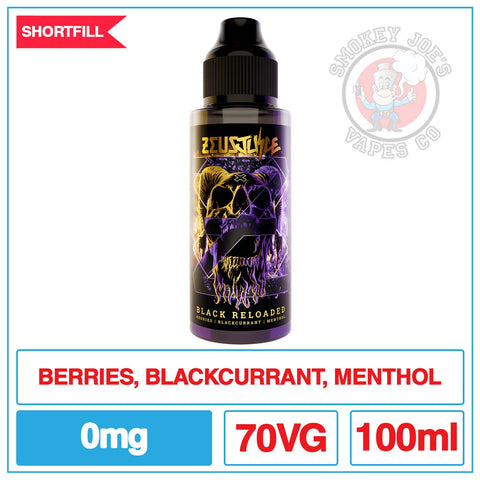 Zeus Juice - Black Reloaded - 100ml | Smokey Joes Vapes Co
