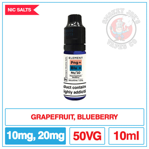 Elements Nic Salts - Pink Grapefruit And Blueberry | Smokey Joes Vapes Co