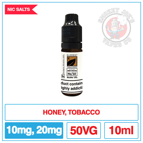 Element Nic Salt - Honey Roasted Tobacco