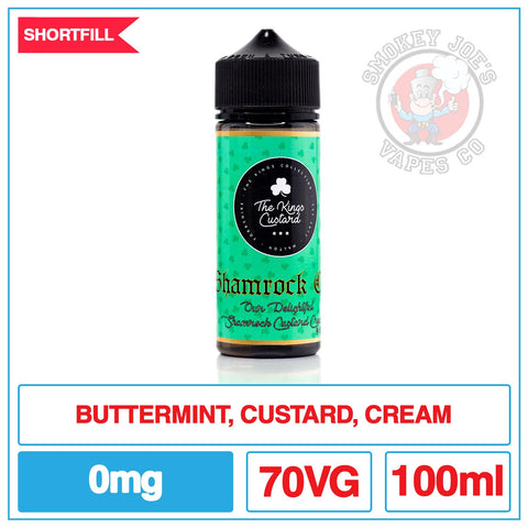 The Kings Custard - Shamrock - 100ml | Smokey Joes Vapes Co
