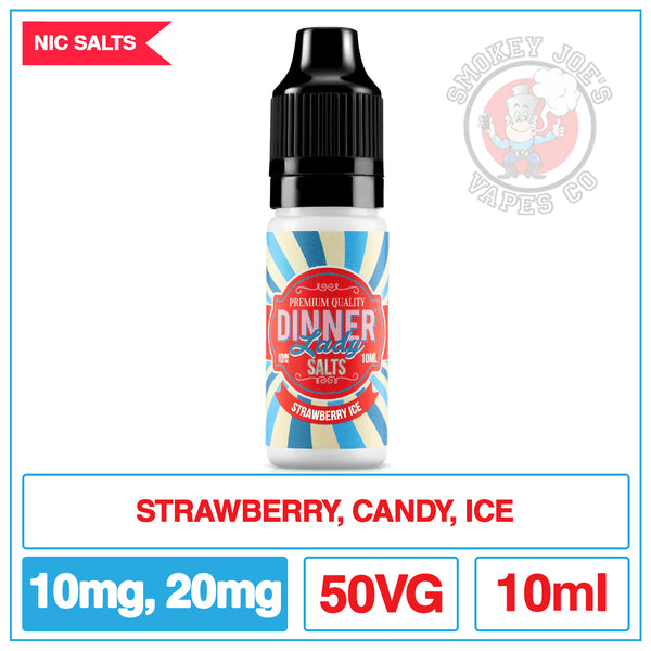 Dinner Lady Nic Salt - Strawberry Ice | Smokey Joes Vapes Co