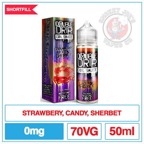 Double Drip Strawberry Laces & Sherbet | Smokey Joes Vapes Co