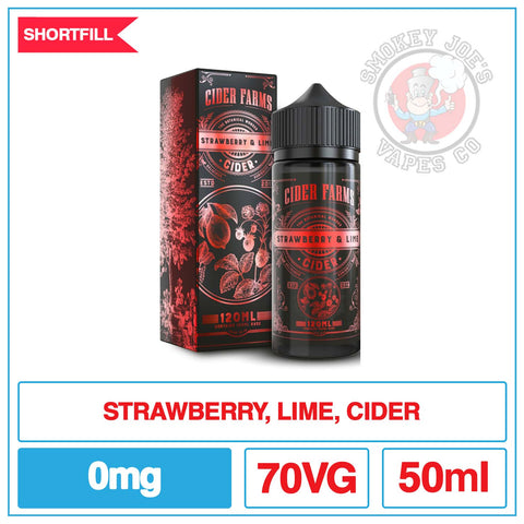 Cider Farm - Strawberry And Lime - 0mg | Smokey Joes vapes Co