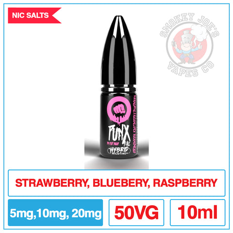 Riot Squad - Punx Salt - Strawberry Raspberry And Blueberry| Smokey Joes Vapes Co