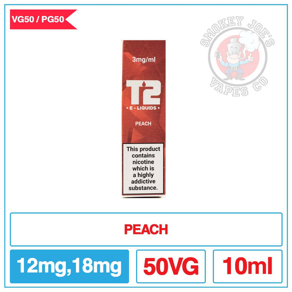T2 50/50 - Peach - E Liquid | Smokey Joes Vapes Co