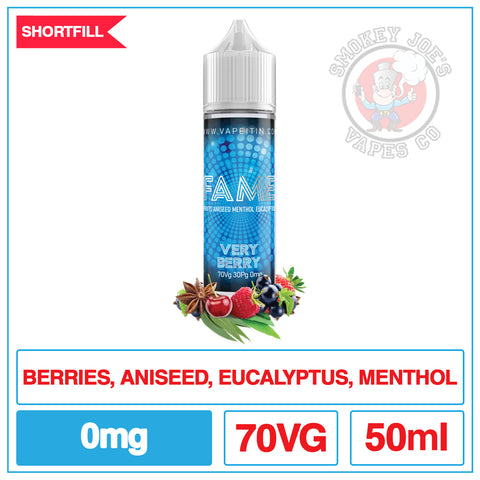 F.A.M.E - Very Berry - 50ml | Smokey Joes Vapes Co