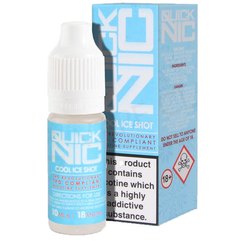 QuickNic 18mg Ice Cold Nic Shot | Smokey Joes Vapes Co