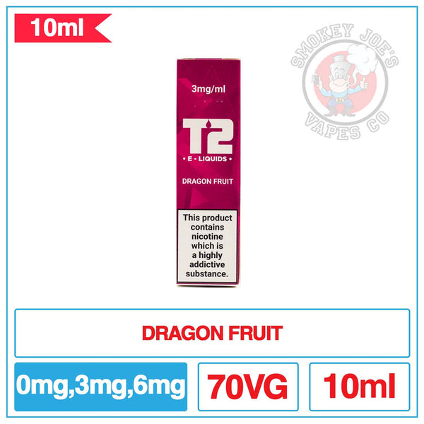 T2 - Dragon Fruit - 10ml - E Liquid | Smokey Joes Vapes Co