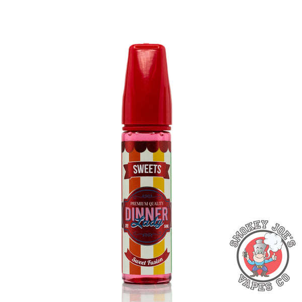 Dinner Lady - Tuck Shop - Sweet Fusion - 50ml - 0mg - Front Of Bottle | Smokey Joes Vapes Co