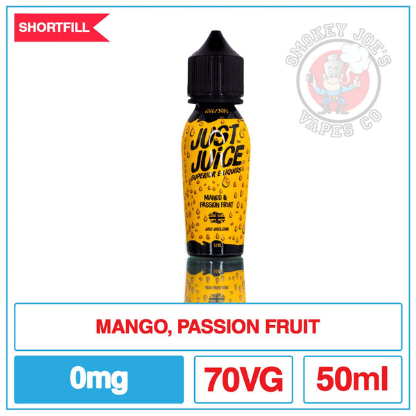 Just Juice - Mango And Passion Fruit - 50ml | Smokey Joes Vapes Co