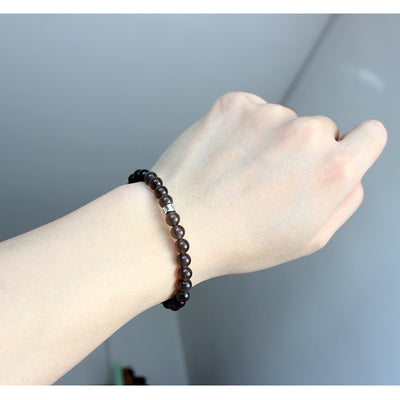 Eis Obsidian Armband - Sechs Wahre Worte for €29.00