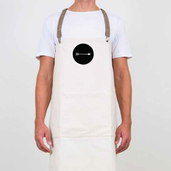 Thoroughbread logo on apron