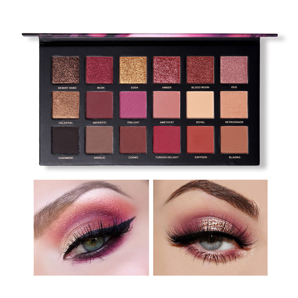 Twiligh Rose Gold Series Eyeshadow Palette 18 Colors Matte Shimmer