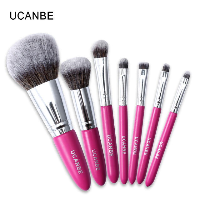 7 pcs/set Rose Red Brushes