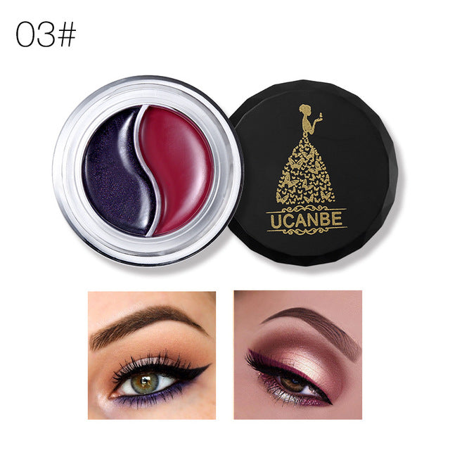 2 in 1 Cream Eyeliner Gel Shimmer Matte Quick Dry