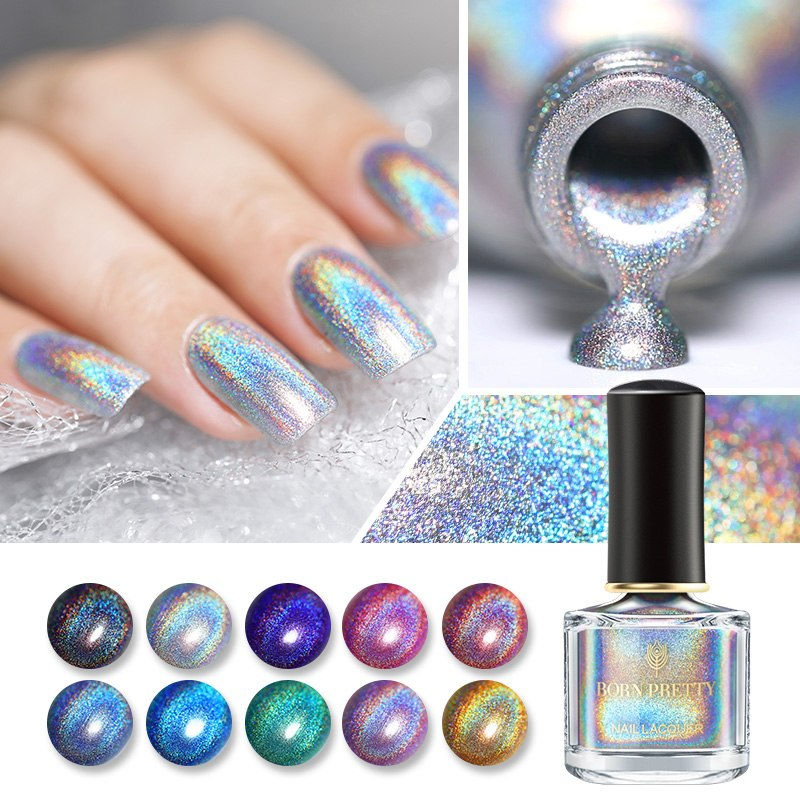 0.2oz Deluxe Holographic Colorful Nail Polish Laser Glitter BP-RR