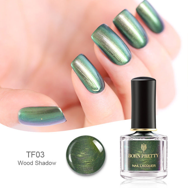 Chameleon Nail Polish 0.2 OZ Metal Mirror Effect Nail Varnish BP-TF