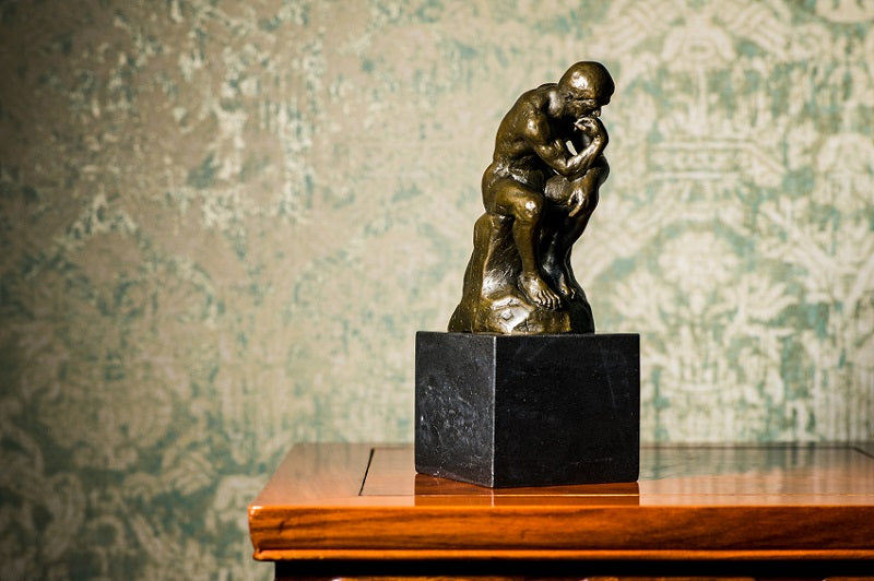 Bronze Thinker Sculpture by Rodin