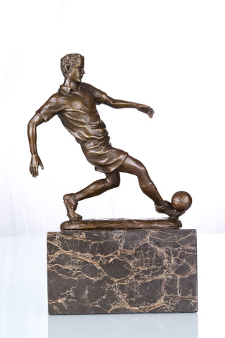 Manual Statue Bronze Football Player Sculpture TPE-737
