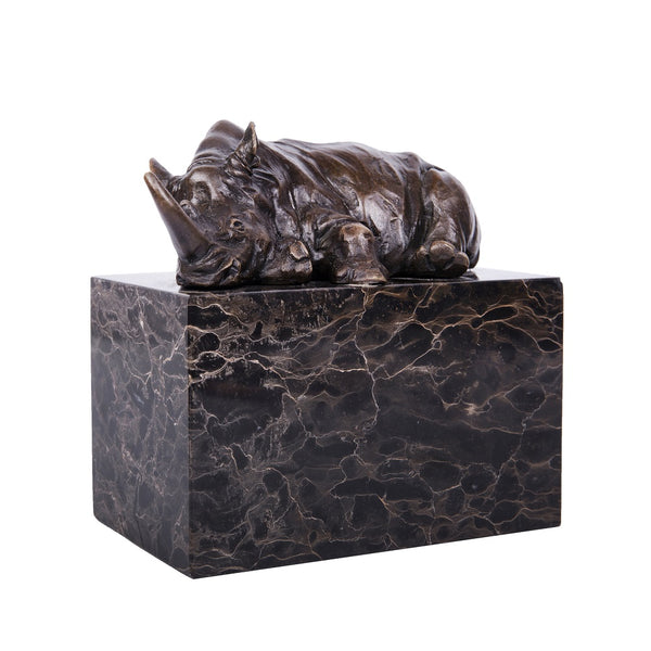 Rhino Bronze Sculpture Home Deco Metal African Animal Statue TPAL-272