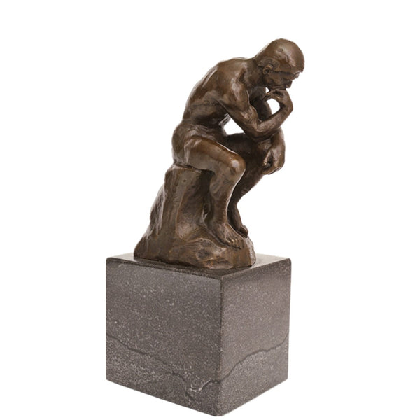 Thinker Bronze Sculpture Rodin Famous Art Statues TPE-185