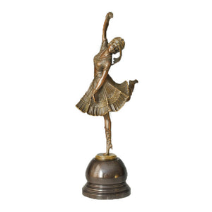 Art Indoor Decoration Collections Dancing Women Music Statue TPE-313
