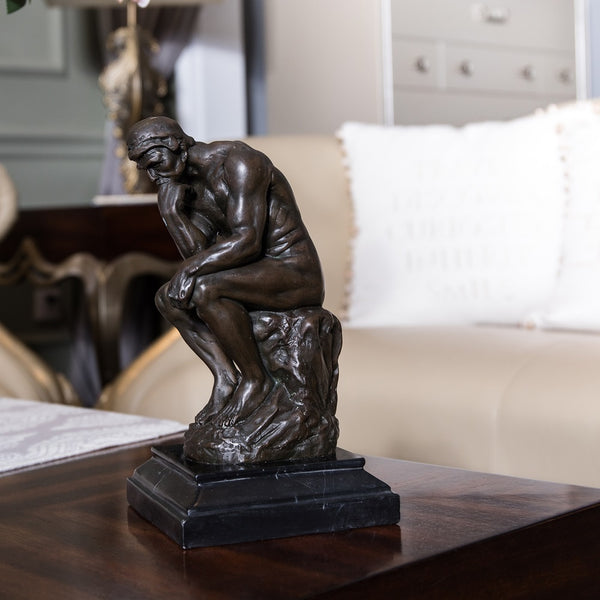 Toperkin Thinker Sculpture by Rodin Figurines Bronze Statues TPY-096