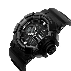 WC3 Multifunction Black Dial Analog-Digital Sports Watch