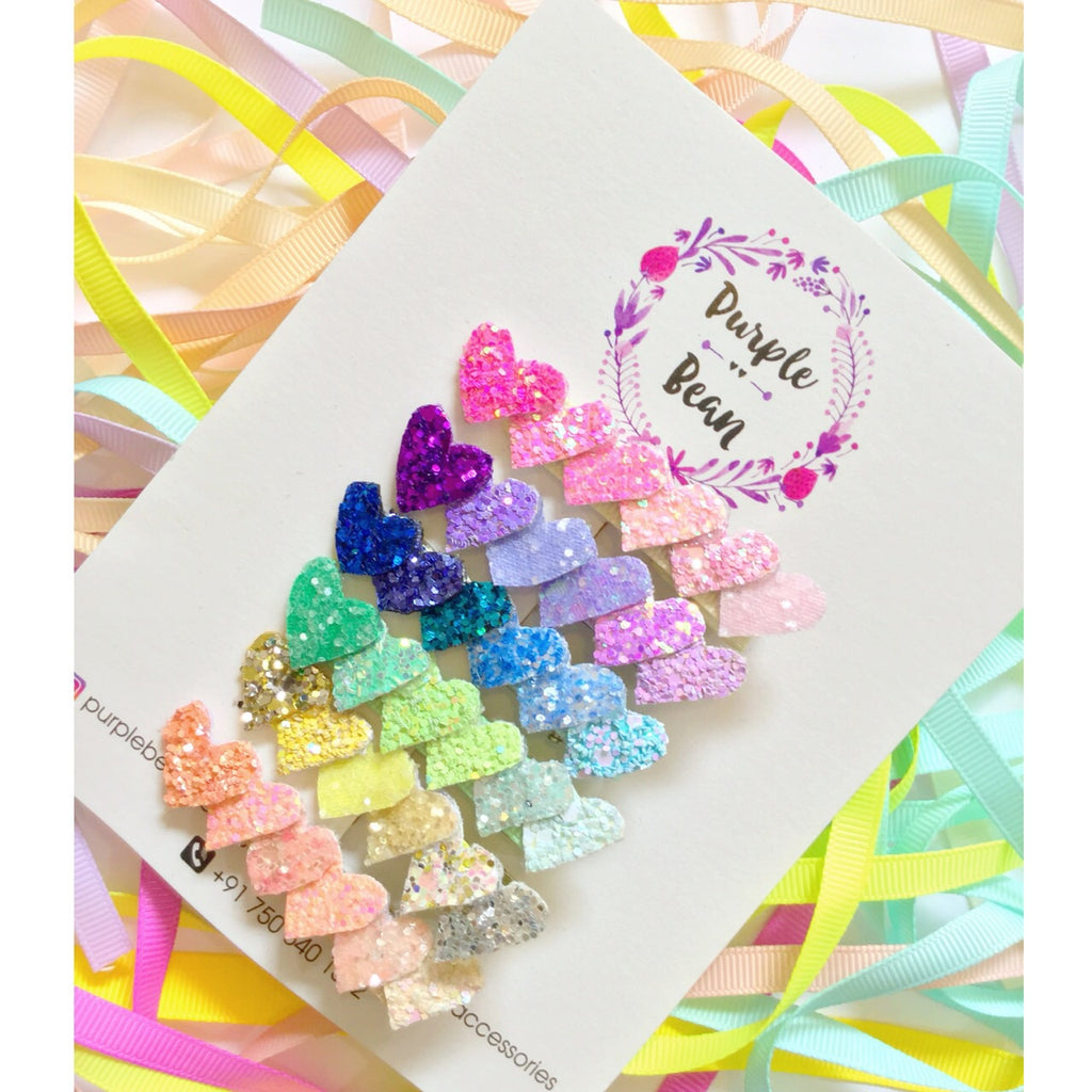 Ombré Heart Clips set of 6