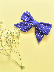 Navy Zoey | Hand-tied Bow