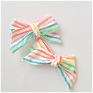 Rainbow Stripes | Hair Bow