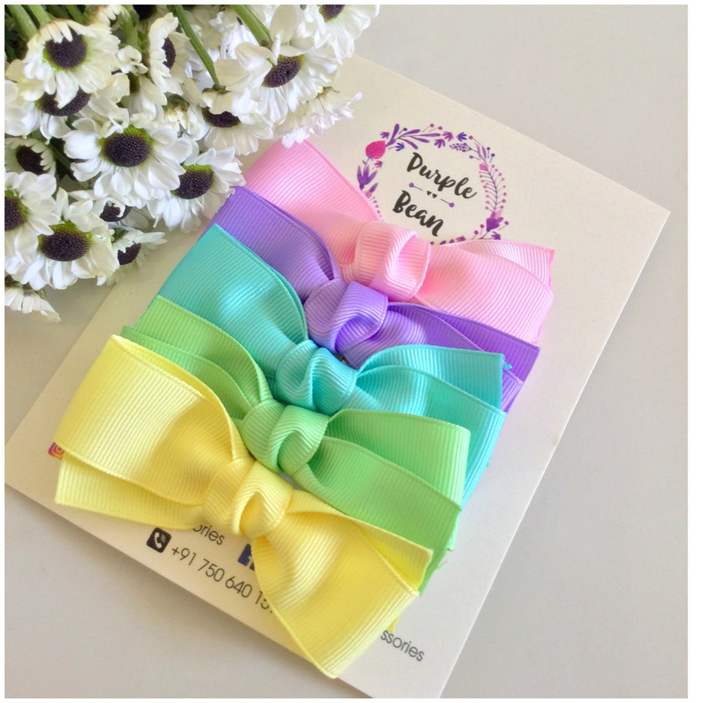 Spring Hairbows | Set of 5